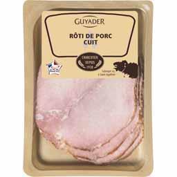 Guyader Rôti de porc cuit la barquette de 4 tranches - 160 g