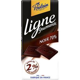 Poulain Poulain Ligne Gourmande - Chocolat noir 70% la tablette de 100 g