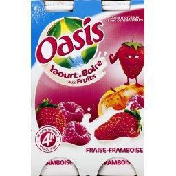 Yaourt à boire aux fruits fraise-framboise
