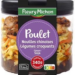 Fleury Michon Fleury Michon Cook'In Jar, poulet, nouilles chinoises et légumes croquants, sauce soja la boîte de 340g