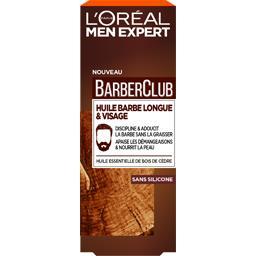 L'Oréal Men Expert de L'Oréal Huile barbe longue & visage Barber Club le flacon de 30 ml