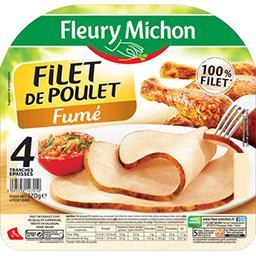 Fleury Michon Fleury Michon Filet de poulet fumé la barquette de 4 tranches - 120 g