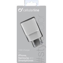 Chargeur secteur USB 1A blanc
