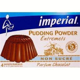 Pudding parfum chocolat, non sucré