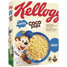 Kellogg's Kellogg's White Coco Pops - Céréales riz soufflé chocolat blanc la boite de 350 g