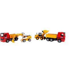 Camion benne avec chargeur ou pelleteuse