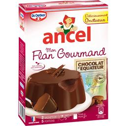 Mon flan gourmand au chocolat d'equateur