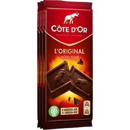 Côte d'Or Côte d'Or Chocolat L'Original noir les 3 tablettes de 100 g