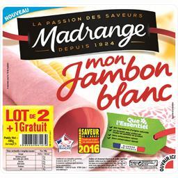 Madrange Mon Jambon blanc le lot de 2 paquet de 160 g