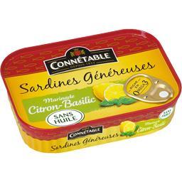 Sardines généreuses marinade citron-basilic sans hui...