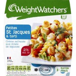 WeightWatchers Weight Watchers Petites St jacques & Torti la barquette de 300 g