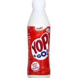 Yop & Go ! - Yaourt à boire sucré aromatisé fraise