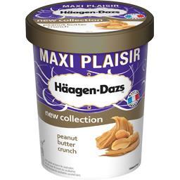 Glace beurre de cacachuètes et morceaux de cacahuètes caramélisées Häagen-Dazs