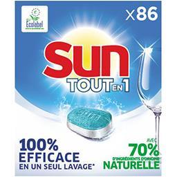 Sun Sun Tout-En-1 pastilles lave vaisselle regular la boîte de 86 tablettes