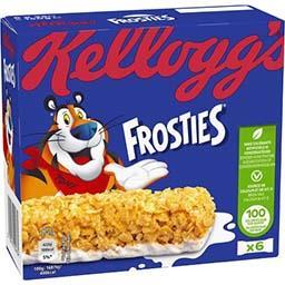 Kellogg's Kellogg's Frosties - Barres de céréales pétales de maïs au lait les 6 barres de 25 g
