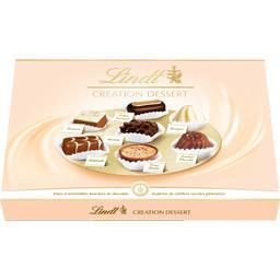 Lindt Lindt Création Dessert - Assortiment de chocolats au lait/noirs/blancs la boite de 45 - 451 g