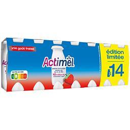 Actimel Danone  - Yaourts à boire goût fraise les 14 bouteilles de 100 g