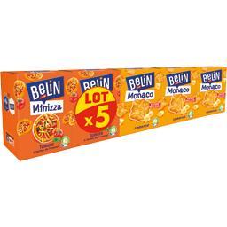 Belin Belin Assortiment de crackers Monaco emmental & Minizza tomates le lot de 5 boites - 470 g