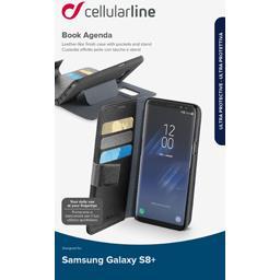 Etui portefeuille noir rangement CB Samsung Galaxy S8 plus