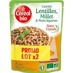 Céréal Bio Cuisiné lentilles millet & petits légumes BIO le sachet de 250 g