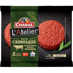 Steaks hachés race charolaise 15%