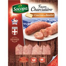 Saucisses au Beaufort façon charcutière