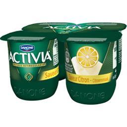 Activia - Lait fermenté au bifidus, saveur citron
