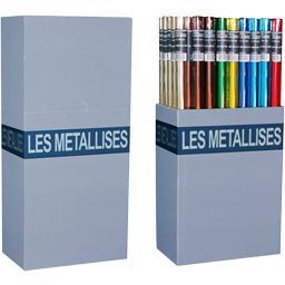 Papier cadeaux métal unis