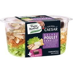 Salade Caesar poulet carotte et mini brownie