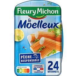 Fleury Michon Fleury Michon Le Moelleux - Bâtonnets de surimi la barquette de 24 - 384 g
