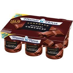 Mamie Nova Gourmand - Dessert lacté chocolat les 6 pots de 150 g -