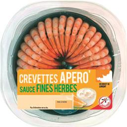 Crevettes Apero' sauce fines herbes la barquette de 190 g - Maxi Format