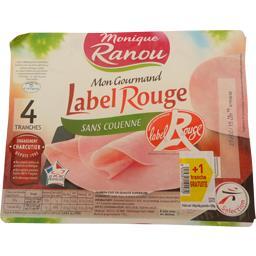 Monique Ranou Jambon Mon Gourmand sans couenne Label Rouge la barquette de 4 tranches - 200 g