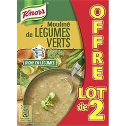 Knorr Knorr Soupe moulinée de légumes verts le lot de 2 briques d'1l