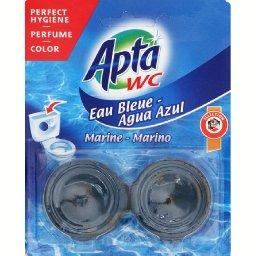 Eau bleu, bloc chasse eau bleue, parfum marine
