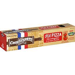 Croustipate Kit Pizza, pâte épaisse sauce aux tomates de Provenc...
