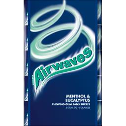 Airwaves Airwaves Chewing-gum menthol & eucalyptus sans sucres les 5 étuis de 14 g