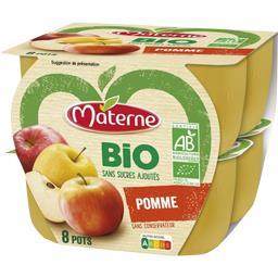 Materne Materne Bio - Spécialité de pomme BIO sans sucres ajoutés les 8 pots de 100 g