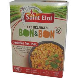 Saint Eloi Les Mélanges céréales Tex Mex Bon & Bon les 3 sachets de 110 g