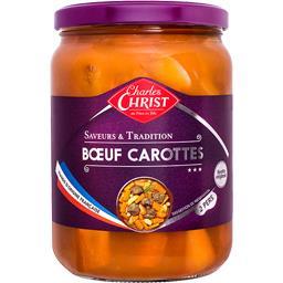 Charles Christ Bœuf carottes Saveurs & Tradition le bocal de 820 g