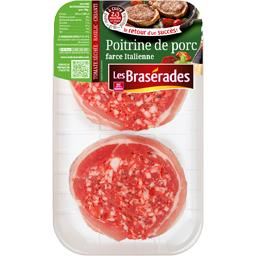 Les Brasérades Poitrine de porc farce italienne la barquette de 2 - 250 g