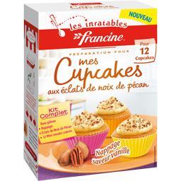 Cupcakes aux éclats de noix de pécan nappage saveur vanille