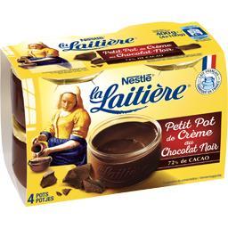 Nestlé La Laitière Petit Pot de Crème au chocolat noir les 4 pots de 100 g