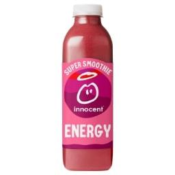 Innocent Innocent Smoothie Energy fraise cerise pomme guarana graines de lin la bouteille de 750 ml