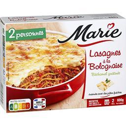 Lasagnes à la bolognaise béchamel gratinée