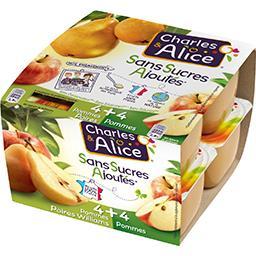 Sans Sucres Ajoutés - Desserts pommes poires william...