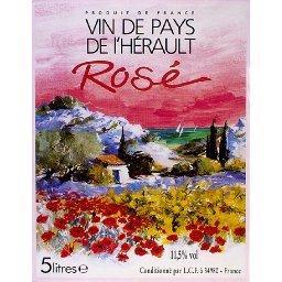 Vin rosé de pays de l'Hérault