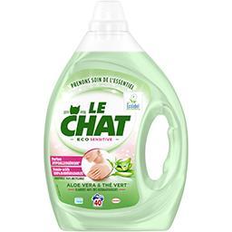 Le Chat Le Chat Lessive liquide Eco Sensitive aloe vera & thé vert le flacon de 2 l
