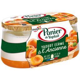Yaourt ferme à l'ancienne lit d'abricots