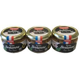 Stéphan Terrine bretonne le lot de 3 verrines de 180g